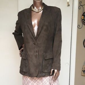 Liz Claiborne Genuine Leather Suede Blazer